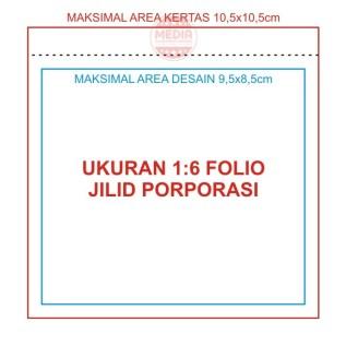 1/6 Folio Jilid Porporasi