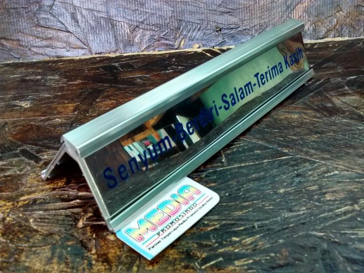 Name Desk BRI rel Aluminium Belakang
