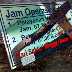 Plat Jam Operasional BRI