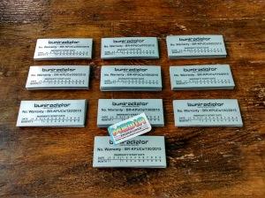 Warranty Label Plate Bumiradiator