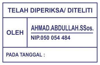 STEMPEL AHMAD ABDDULLAH
