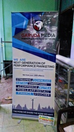 Roll Up Banner Garuda Media